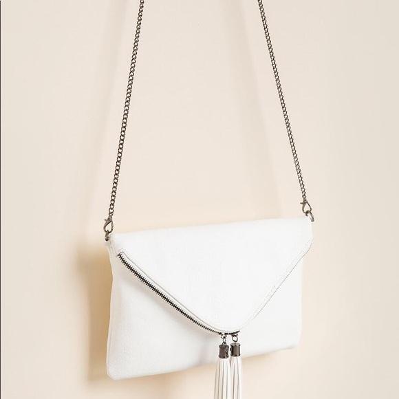 Express Handbags - Francesca's, white, Venus clutch!